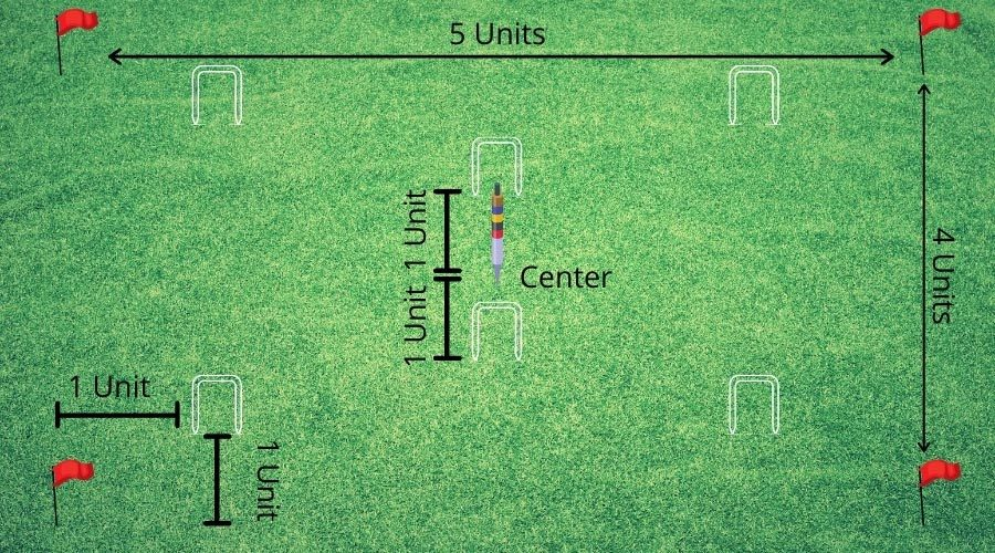 Croquet Set Up - Croquet Layout For 6 Wickets